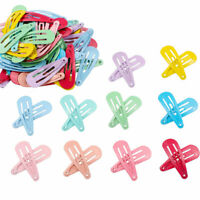 50Pcs/Box Candy Color Hair Clips Hair Barrettes Baby Kids Hairpin Hair Accessory