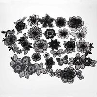 1-10Pcs 3D Lace Flower Patch Applique Trim Iron On Patch Badge DIY Sewing Decor