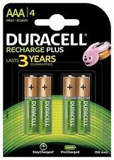 DURACELL Recharges Plus Piles Rechargeables type LR3 / AAA 750 mAh Lot de 4
