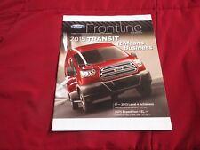 2015 FORD TRANSIT AND EXPEDITION EL FRONTLINE DEALER MAGAZINE BROCHURE