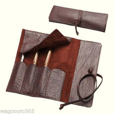 Innoshima Leather Cow Hide Roll Pen Case / Stationery Gift / Made in Japan