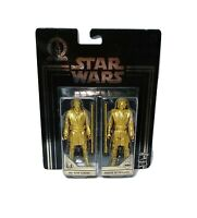 Star Wars Commemorative Edition Gold Obi-Wan Kenobi And Anakin Skywalker Figures