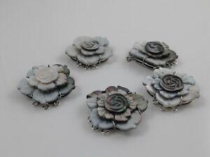Black Shell Box Clasps,Multi-strand,Brass Findings, Platinum, China Rose 36mm