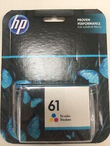 HP 61 Tri-Color Ink Cartridge Cyan Pink Sealed NIB Genuine EXP 2016? 2017? 2018?