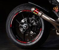 Ducati Corse wheel stickers decals rim stripes set Multistrada 1199 1198 Monster
