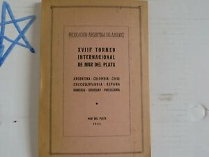 Vintage Allan Troy Chess Book-SPANISH LANGUAGE: Mar del Plata 1955  TH