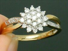 9CT Gold 9K Gold 0.25ct Diamond Hallmarked Engagement ring size N