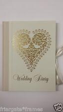Vintage Wedding Planner Book Diary Organiser 'Love Doves'Journal Engagement Gift