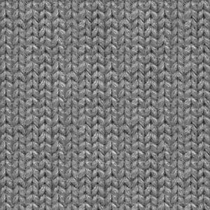 GOTS Organic Sweatshirt Cable Knit Faux Print Jersey - Rock Grey - Fabric Dressm