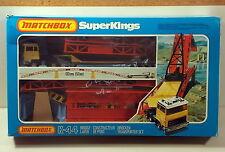 DTE MATCHBOX SUPERKINGS SK-44 RED BRIDGELAYER CONSTRUCTION GIFT SET NIOB
