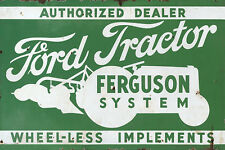 FORD TRACTOR FERGUSON SYSTEM ADVERTISING METAL SIGN
