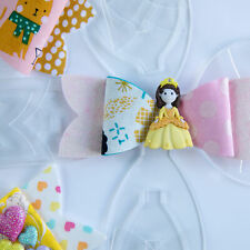 Hair Bow Making Template - Pack of 3 sizes - Choice of 4 Designs, tough acrylic