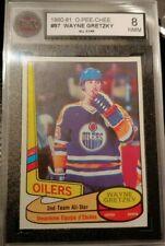 1980-81 O-Pee-Chee #87 Wayne Gretzky All Star  Card KSA 8 NMM Edmonton Oilers