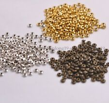 100PCS Tibetan Silver/Gold/Bronze  Spacer Beads Jewelry Findings 4MM E3080