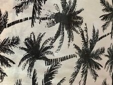 """BLACK AND WHITE RAYON CHALLIS TROPICAL PRINT BY THE YARD 58"""" WIDE LIGHT WEIGHT"""