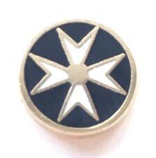 Massonico Malta Croce Maltese Smalto Molto Piccola Distintivo di Lapel Pin
