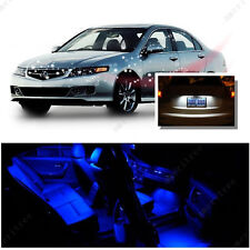 For Acura TSX 2004-2008 Blue LED Interior Kit + Xenon White License Light LED