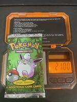 Pokemon Jungle Booster Pack HEAVY  WIGGLYTUFF 1999 21.00 Grams