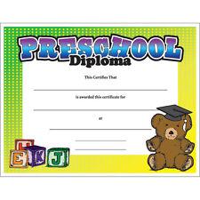Preschool Diploma Certificate, Pack of 15