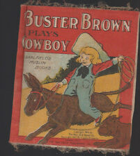 Buster Brown Plays Cowboy Saalfield Muslin Book 1905 Cloth
