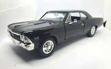 1966 CHEVY CHEVELLE SS 396 BLACK 1/24 SCALE DIECAST CAR BY MAIST