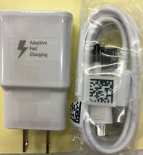 OEM Original Samsung Galaxy Charger Combo Fast Adaptive Plug + Micro USB Cable