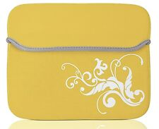 "10"" Yellow Sleeve Case Cover Bag For 9.5"" - 10.2"" inch Laptop / Tablet PC  UK"