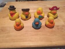 RUBBER DUCKIES Lot Of 7. Variety Of Sizes, Color & Themes Rare