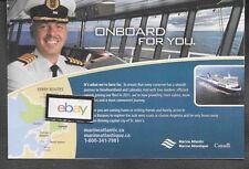 MARINE ATLANTIC FERRY TO NEWFOUNDLAND & LABRADOR CANADA ONBOARD FOR YOU 2011 AD