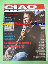 rivista CIAO 2001 29/1993 Neil Young Nannini Billy Joel Deep Purple Velvet No*cd