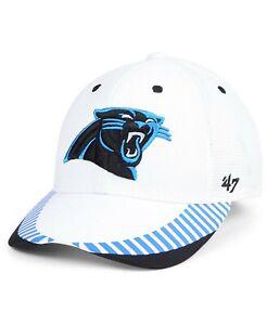 Carolina Panthers 47 Brand White NFL Flex Fit Hat Cap size L/XL