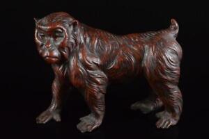P7517: Japanese Iron Monkey sculpture ORNAMENTS object art work Lucky charm