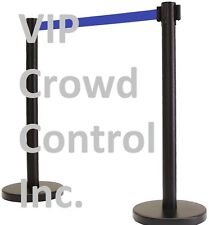 "Retractable Belt Stanchion, 40"" Tuff Tux Black 13' D.Blue Belt (Area Version)"