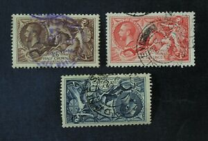 CKStamps: Great Britain Stamps Collection Scott#222 223 224 Used