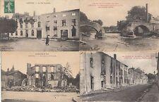 Lot 4 cartes postales anciennes GUERRE 14-18 WW1 LUNEVILLE 6
