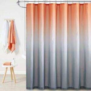 Orange and Gray Ombre Elegant and Cute Boho Princess Fabric Shower Curtain