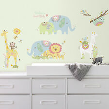 RoomMates RMK3542SCS Tribal Baby Animals Peel and Stick Wall Decals