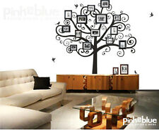Family Tree Wall Decal - Picture Frame Tree, PTB-1048, any color, modern, art