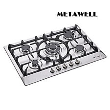"30"" Stainless Steel 5 Burner Built-In Stoves NG LPG Gas Cooktop Cooker~ USA ship"