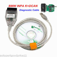 New Car Diagnostic Tool Cable OBD2 OBDII Scanner INPA/Ediabas K+DCAN USB For BMW