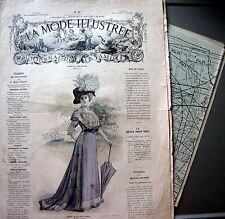 LA MODE ILLUSTREE + PATRON,  n° 22/1909 Voir modèles à réaliser, FRENCH PATTERN