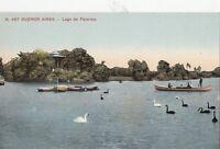 B79079 lago de palermo swan  buenos aires argentina scan front/back image