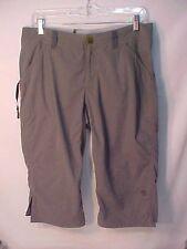 NWOT Women's 8 MOUNTAIN HARD WEAR Crop Pant Hiking/Camping/Travel Gray 5 pockets