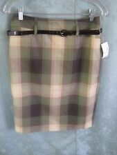 """Dressbarn """"The Woods"""" Plaid Career Skirt Size 6 NWT Belted"""