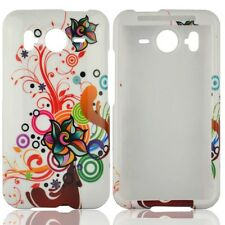 White Autumn Flower Hard Case Cover for HTC Inspire 4G