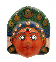 Maschera Nepalese Mahakali Kali Dance Indra Jatra Nepal Carta Mache Mask 7320