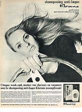 PUBLICITE  1966   KLORANE  shampoing anti- laque