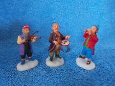 Rare Set Of 3 Lemax Christmas Village Elf Musicians