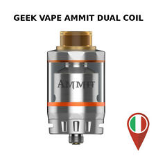 GEEKVAPE AMMIT DUAL COIL SILVER RTA 25/27mm 3/6ml 510 THREAD DRIP TIP 810 GEEK