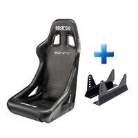 Sparco Sprint Sky Black Vinyl FIA Approved Racing Bucket Car Seat & Free Mounts!